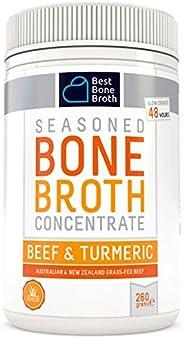 Bone Broth Caldo concentrado de hueso bovino con cúrcuma - Rico en Colágeno para mejorar la salud del intestin