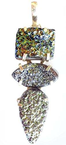 APPENDE PER LE DONNE moda Argento 925 TAMBURI pietra preziosa gioielli fatti a mano per (Tamburo Con Collare)