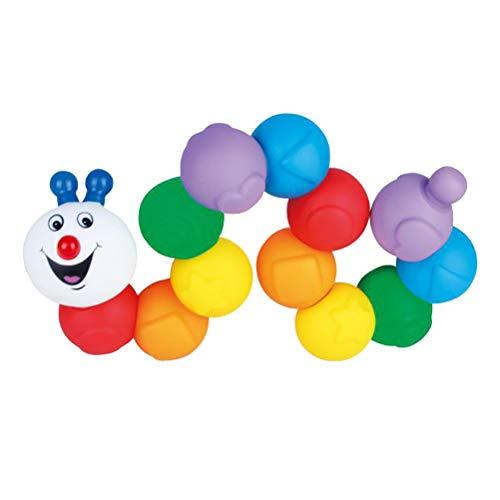 YeahiBaby Juguete de Caterpillar de Pelotas de plástico Blando Juguetes interactivos Juguetes Infantiles para bebés Juguetes educativos para niños