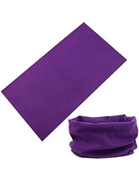 BazarAZ 1829 - [VIOLA] Scaldacollo Simple - in Cotone elasticizzato - Ideale per Adulti e Bambini - Unisex - Autunno...
