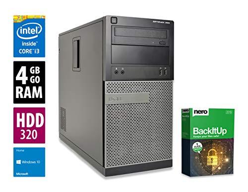Dell OptiPlex 390 MT | PC | Computer | Intel Core i3-2100 @ 3,1 GHz | 4GB DDR3 RAM | 320GB HDD | DVD-Brenner | Windows 10 Home (Zertifiziert und Generalüberholt) 320 Gb Hdd-dvd