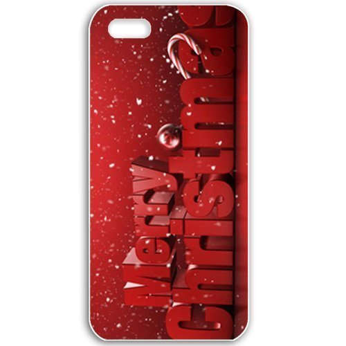 Apple iPhone 5 5S Cases Customized Gifts For Holidays Merry Christmas Celebrations Holiday Black
