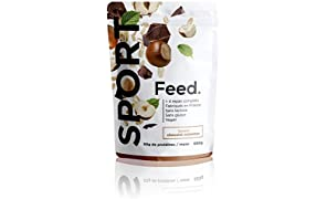 Feed. Sport 4 Meal Bag Chocolate & Hazelnut - Complete Meal - 100% Vegan - Lactose-Free - Gluten-Free - GMO-Free - 680g