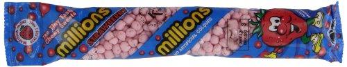 Millions Kaubonbons Strawberry Flavour 12x60g Tubes -