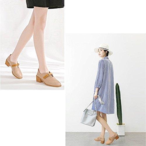 LIANGJUN Tacchi Alti Stivaletti Caviglia Stivali Scarpe Da Donna Sport All'aperto, 2 Colori, 6 Dimensioni Disponibili ( Colore : Nero , dimensioni : EU36=UK4.5=L:230mm ) Albicocca