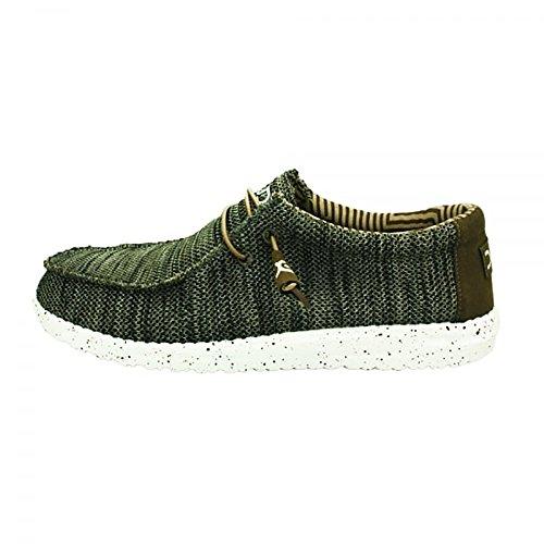 Dude Shoes Sox di Wally di Uomini Marrone Marrone