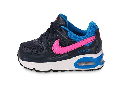 Nike Air Max Command (Td), Baskets Basses Bébé Garçon, Marron Châtain Noir / rose / bleu (obsidienne / rose puissant - bleu photo)