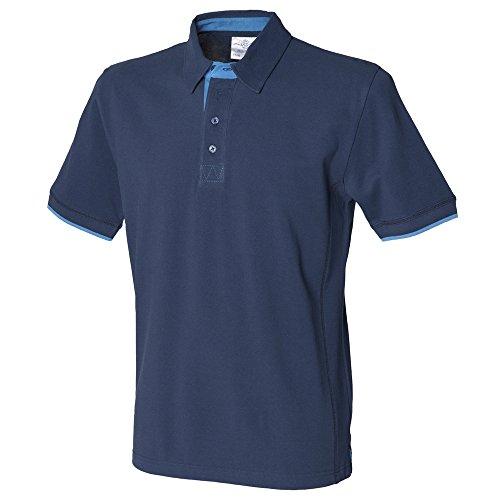 Front Row Contrast pique polo shirt Navy/ Marine