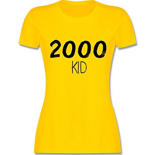 Shirtracer Geburtstag - 2000 Kid - Damen T-Shirt Rundhals Gelb