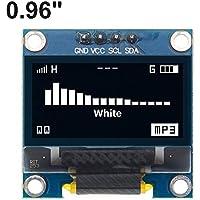 """4 Pines 0,96"""" Blanco/Azul/Amarillo Azul 0,96 Pulgadas OLED 128X64 OLED módulo de visualización 0,96"""" IIC I2C Comunicar for Arduino (Color : White)"""