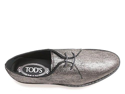 Chaussures à lacets Tod's femme en cuir argent - Code modèle: XXW0WX0L150SHMB200 Argent