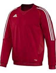 """adidas Pullover T12 Team Crew Sweater Männer X13123 - Sudadera para hombre, color rojo / blanco, talla 176 (Herstellergröße : 34 """")"""