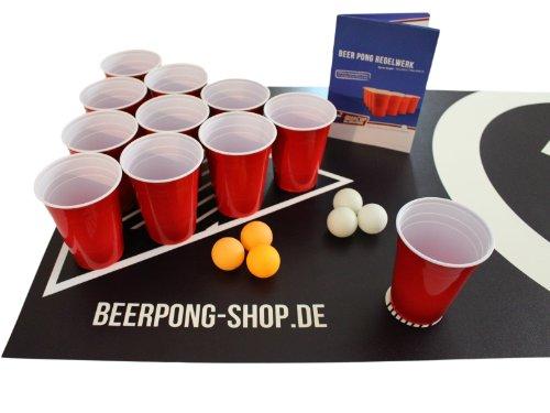 Beer-Pong-Tisch-Matten-Set-Audio-Table-Design-inkl-50-Red-Cups-6-Beer-Pong-Blle-und-Regelwerk