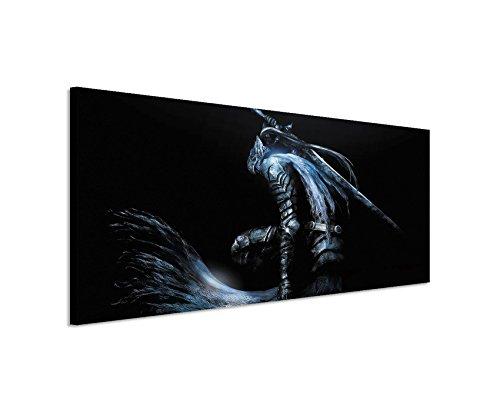 Kunstdruck-DarkSouls150x50cm-Panoramabild-Ausfhrung-qualitativ-hochwertiges-Keilrahmenbild-auf-echter-Leinwand-als-Wandbild-auf-Keilrahmen