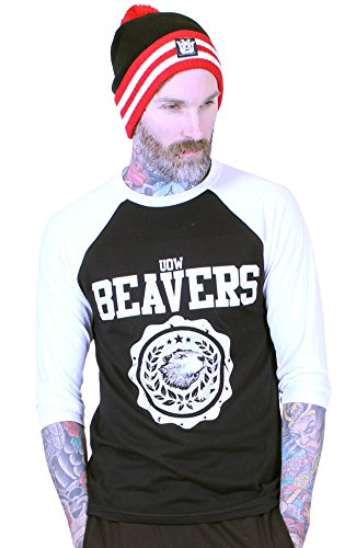 university-of-whatever-camiseta-de-manga-larga-hombre-beavers-2xl-negro-blanco-cv3200-