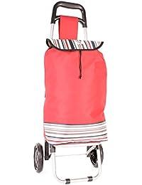 Rayas Dos Ruedas hby0030Rojo Carrito de la compra–carrito de estampado de resistente de plegable (Tamaño pequeño