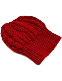aae8ad7a36b Magic Needles - Winter Woolen Cap Handmade Girls Slouchy Shroom Beanie