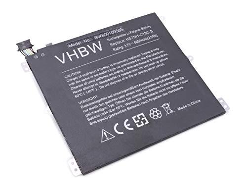 vhbw Li-Polymer Batterie 5650mAh (3.7V) pour Netbook Pad Tablette HP 7600US, HSTNH-H408C comme BY02, HSTNH-C13C-S.