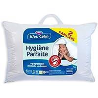 Bleu Câlin OAEH50LOT245 Lot de 2 Oreillers Hygiène Parfaite Anti-Acariens Blancs 45x70 cm OAEH