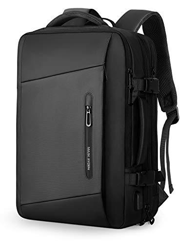 MARK RYDEN Erweiterbarer 25L-40L Rucksack zum Mitnehmen Wasserdichter Laptop-Wochenendrucksack für 17,3-Zoll-Laptops, Diebstahlschutz, fluggeprüfter Rucksack, Handgepäckrucksack für Wochenendtrips ...