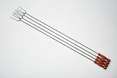 4x extra lange 1 METER Grillspieße für Picknickset Picknick-Grill Campingkocher & Campinggrills Würstchenspiesse 4 Stück-Paket Grillspieß großer Würstchengrill Würstchengriller Bratwurst (Achtung kein Teleskop, sondern feste (stabile) Form aus gedrehtem S