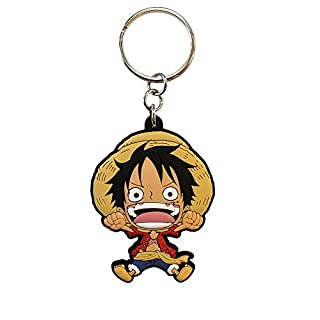 ABYstyle ABYKEY037 - Schlüsselanhänger One Piece, Luffy SD