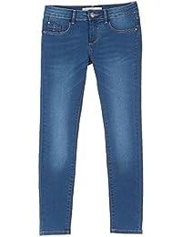 Jeans coupe slim TIFFOSI pour enfant et ado fille - bleu clair délavé - taille ajustable - stretch - 12 ans 14 ans
