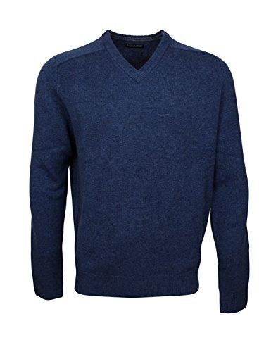 174602 - Bots & Bots - V-Neck Pullover Homme - Lambswool - Normal Fit Denim Bleu