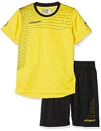 Uhlsport, MATCH Team Kit - Kinder T-Shirt&Shorts SS - limonengelb/schwarz, Größe:XXS (128)