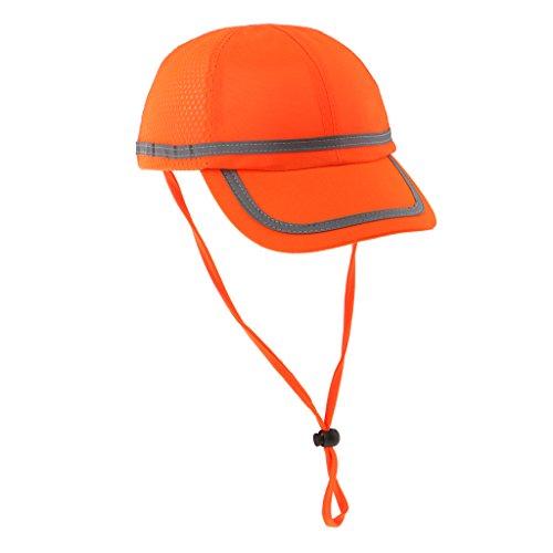 Homyl Casco Da Lavoro Cappuccio Cappello Rigido Sicurezza Costruzione Prodotti Chimici - Griglia Fluorescente Arancione