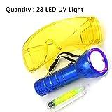 KATURN Car Air conditionné A/C Système détecteur de Fuite de Test kit LED UV Lampe de Poche Lunettes de Protection UV Outil de Teinture de climatisation Automobile Outil de réparation