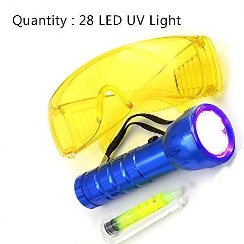 KATURN Auto-Klimagerät A/C System Leck-Test-Detektor Kit LED UV-Taschenlampe Schutzbrille UV Farbstoff Werkzeug Set Auto Klimaanlage Reparatur Werkzeug