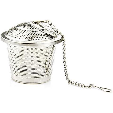 Ohuhu® Colino da Tè Acciaio Inox / Filtro da Tè / Infusore da Tè con Catena 11cm