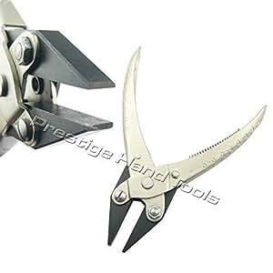 "PTL® Parallel flat nose pliers opticians jewllery making tools spring Prestige 5.5"""