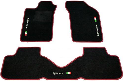 alfa-romeo-gt-alfombras-para-coche-color-negro-con-borde-rojo-juego-completo-de-alfombras-de-moqueta