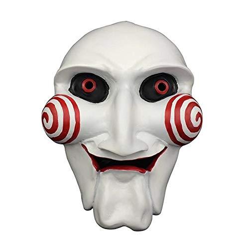 Kettensägen-Schrei-Maske, Halloween-Kettensägen-Mörder-Masken-Horror-erwachsene Harz-Masken-Requisiten (Color : White) -