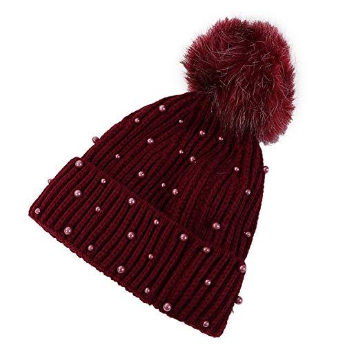 Whale Kri Damen Winter Mützen Pom Pom Warm Knittal Trendy Hüte für Mädchen