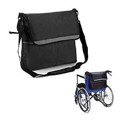 Walker Bags Wheelchair Pouch Armrest Side Organizer Mesh Storage Cover - Fits Most Scooters, Rollators, Power & Manual Electric Wheelchairs