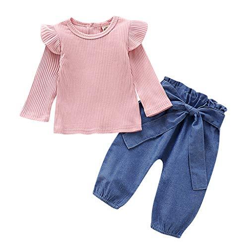 Kostüm Alt Jahre 2 Minion - Cuteelf Kleines Mädchen Einhorn lässig Spitze Flauschiges Kleid Top T-Shirt + Regenbogen Rock (1-7 Jahre alt)