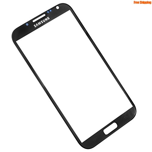 Front replacement touch glass lens for Samsung Galaxy Note 2 Black