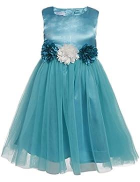 ZEARO Abendkleider Mädchen chiffon V-Ausschnitt kurzarm Kleid girls Prinzessin Hochzeit Party Kleid lang