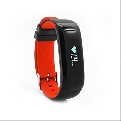 Fitness Tracker Blutdruckmessgerät,Smartwatch Herzfrequenzmesser,Sportuhr Schrittzähler Smart armband mit Tägliches Aktivitätsziel Fern Fotografieren Kalorie Tracking für IOS und Android