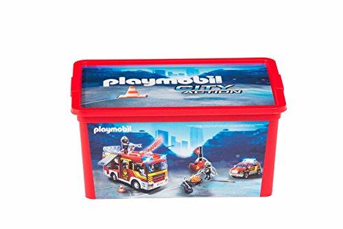 PLAYMOBIL-064745-Aufbewahrungsbox-Die Feuerwehr-12L