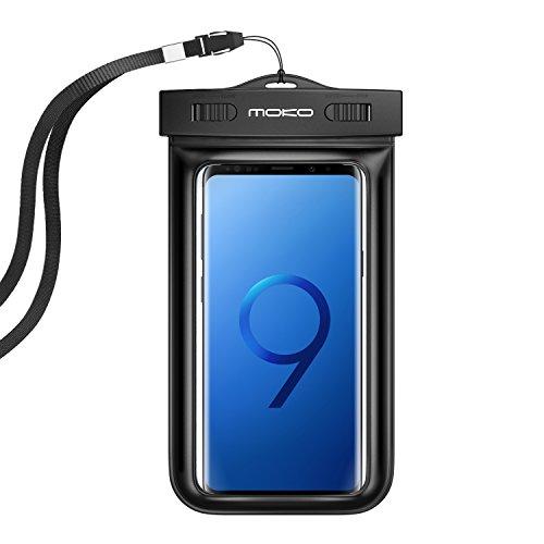 zhülle Tasche wasserdicht mit Umhängeband und Sportarmband für iPhone 5SE/6S Plus/6PLUS/6S/6/5S, Galaxy S7/S7Edge/ZenFone 2/2./LG G Flex 2–IPX8Certified, Schwarz (Ipod Touch 6 Gehäuse Wasserdicht)