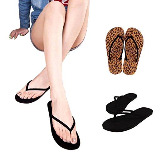 OHQ Tongs Plates Pour Femmes Noir Été Chaussures Sandales Pantoufle Intérieure et Extérieure Pantoufles Chaudes Montantes Isotoner Lapin Fantaisie Antiderapentes Chat NoirC