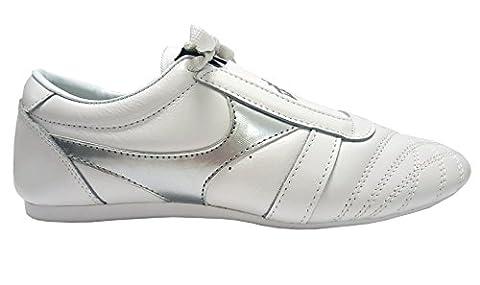 DOUBLE Y Chaussures arts martiaux en cuir blanc T37