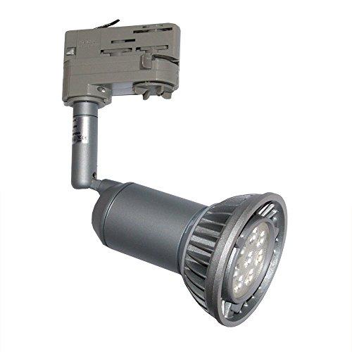 3-Phasen Strahler E27 mit Toshiba LED PAR30 14W warmweiß 3000K dimmbar für Erco Staff Ivela grau