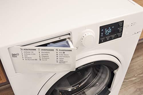 Bauknecht WM Pure 7G42 Waschmaschine Frontlader / A+++ -20% / 1400 UpM / 7 kg / Weiß / langlebiger Motor / Nachlegefunktion / Wasserschutz - 7
