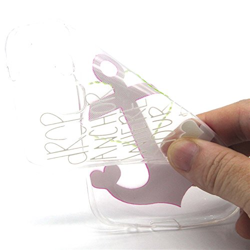 Voguecase® für Apple iPhone 6 / 6s (4,7 Zoll) , Schutzhülle / Case / Cover / Hülle / Ultra Slim Fit TPU Gel Skin (Pink Anchors) + Gratis Universal Eingabestift Pink Anchors