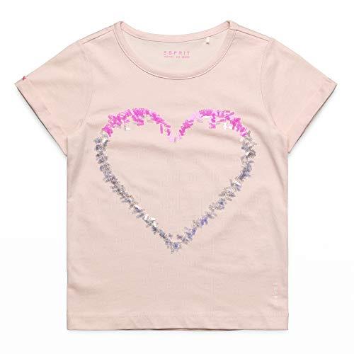 ESPRIT KIDS Mädchen Short Sleeve Tee-Shirt Seq T-Shirt, per Pack Rosa (Pearl Rose 309), 128 (Herstellergröße: 128+) -